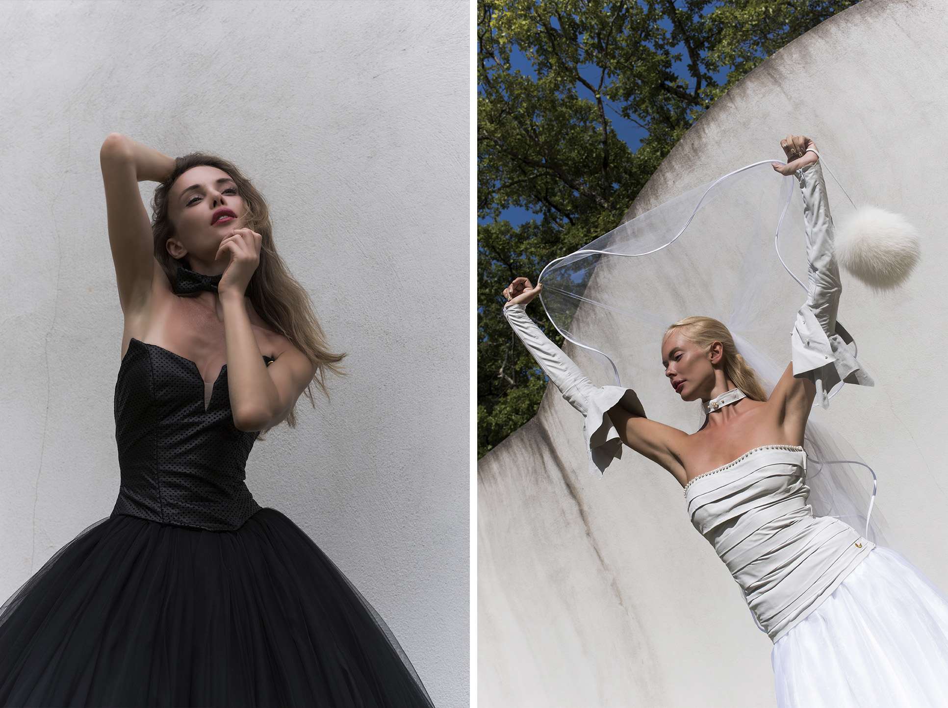 daniel peace photography monaco mess magazine Marketa Hakkinen nordic angels wedding dress photographer